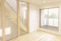 階段が家族をつなぐ…開放的リビングのある家(西宮市)